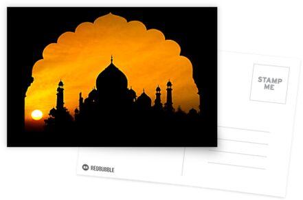Fluted Arch Taj Mahal - Greeting Card by Glen Allison