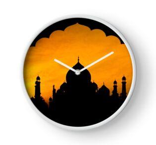 Fluted Arch Taj Mahal - Clock by Glen Allison