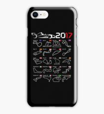 Calendar F1 2017 circuits iPhone Case/Skin
