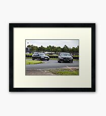 German Car Duel  Framed Print