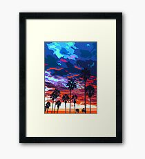 Sunset on Venice Beach  Framed Print