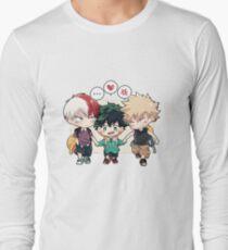 Todoroki - Izuku - Bakugo [BNHA Kindergarten AU] Long Sleeve T-Shirt