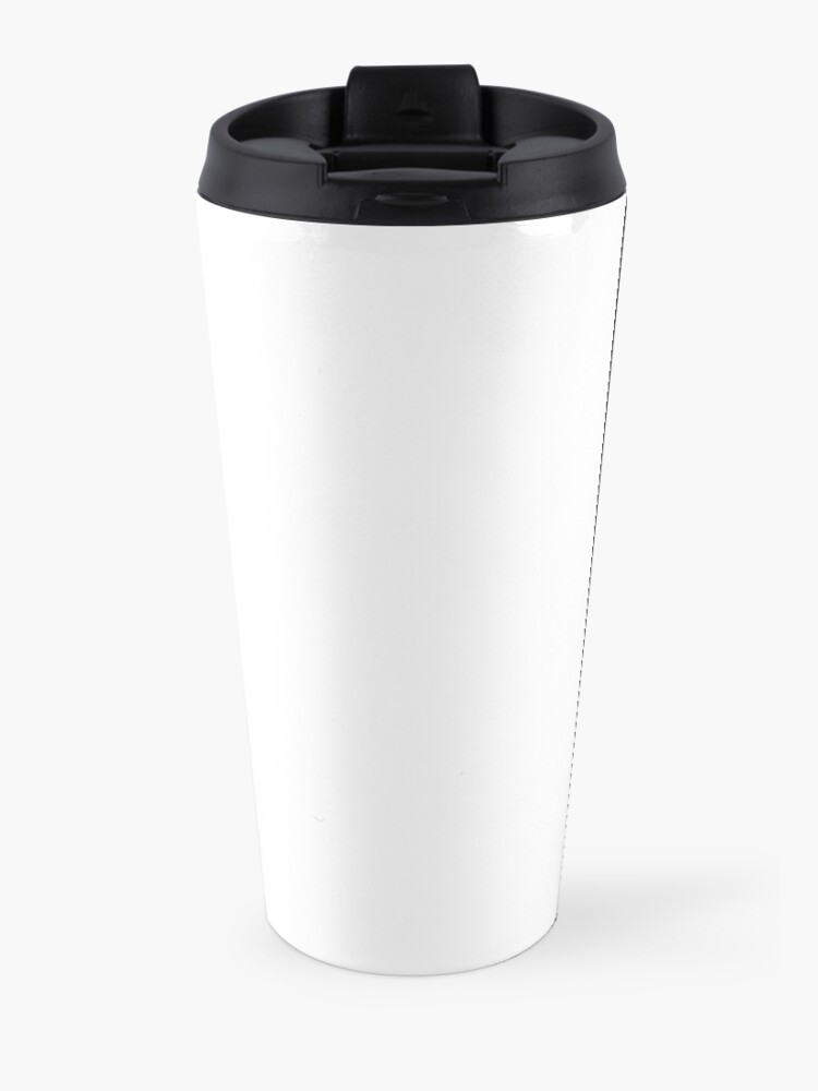 Alternate view of ASIMOV, Science Fiction, Writer, People who think they know everything are a great annoyance to those of us who do. BLACK on WHITE. Travel Mug