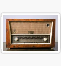 retro Schneider SW radio receiver on white background Sticker