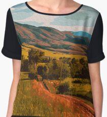Rural Landscape Chiffon Top