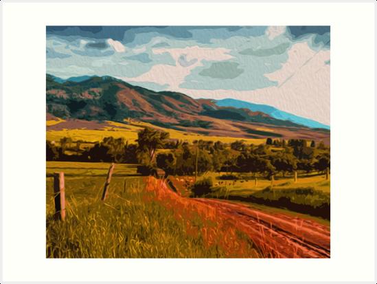 Rural Landscape by Andrea Mazzocchetti