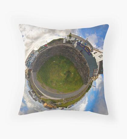 Tigh Ruairi - Inisheer Village (Sky out)  Throw Pillow