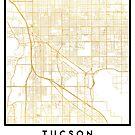 TUCSON ARIZONA CITY STREET MAP ART by deificusArt