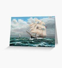 HMS Beagle, Darwin's Ship 1831/6 Greeting Card