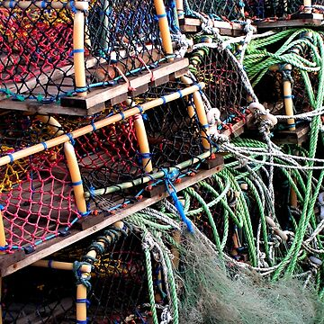 Lobster Pots At Scarborough UK by patjila