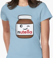 Nutella face 4 Women's Fitted T-Shirt