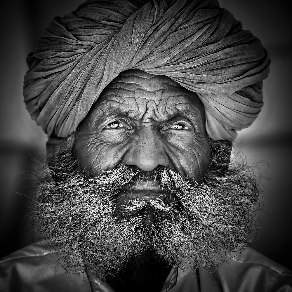 Old Rajasthani Man by Glen Allison