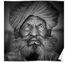 Old Rajasthani Man - Poster by Glen Allison