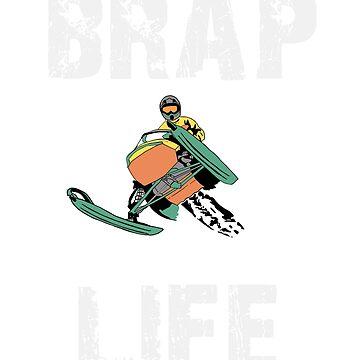 Brap Life Snowmobile  by treasuregnome