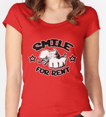 Smile for rent Women's Fitted Scoop T-Shirt