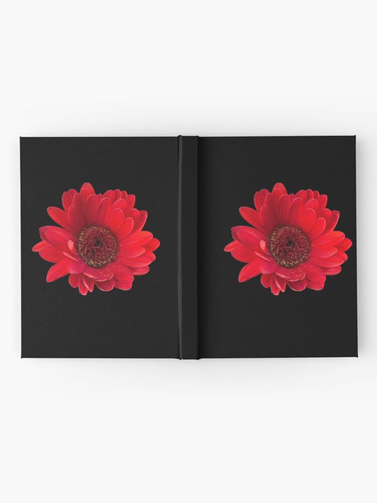 Alternate view of Close up photograph of a red gerbera flower Hardcover Journal