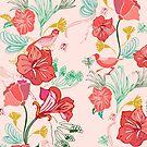 Pink Flora Ladybugs by elenor27