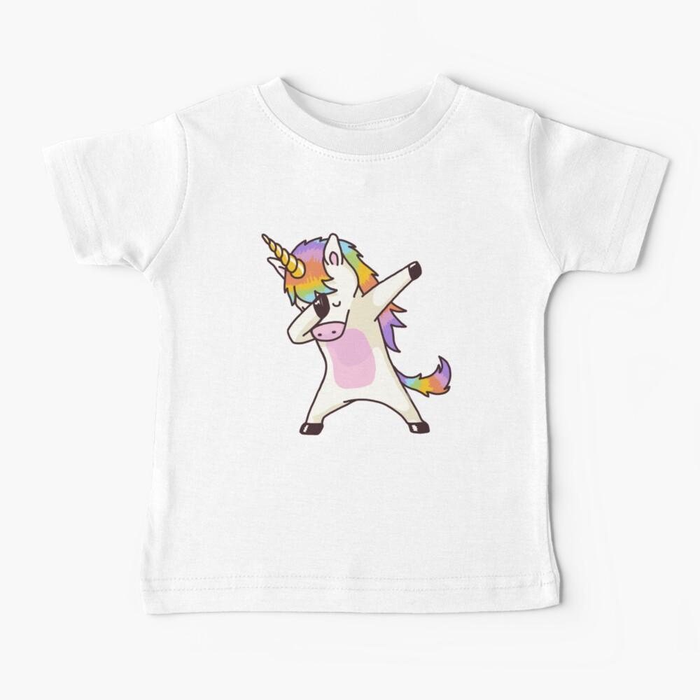 Dabbing Unicorn Shirt Hip Hop Dap Pose Baby T-Shirt