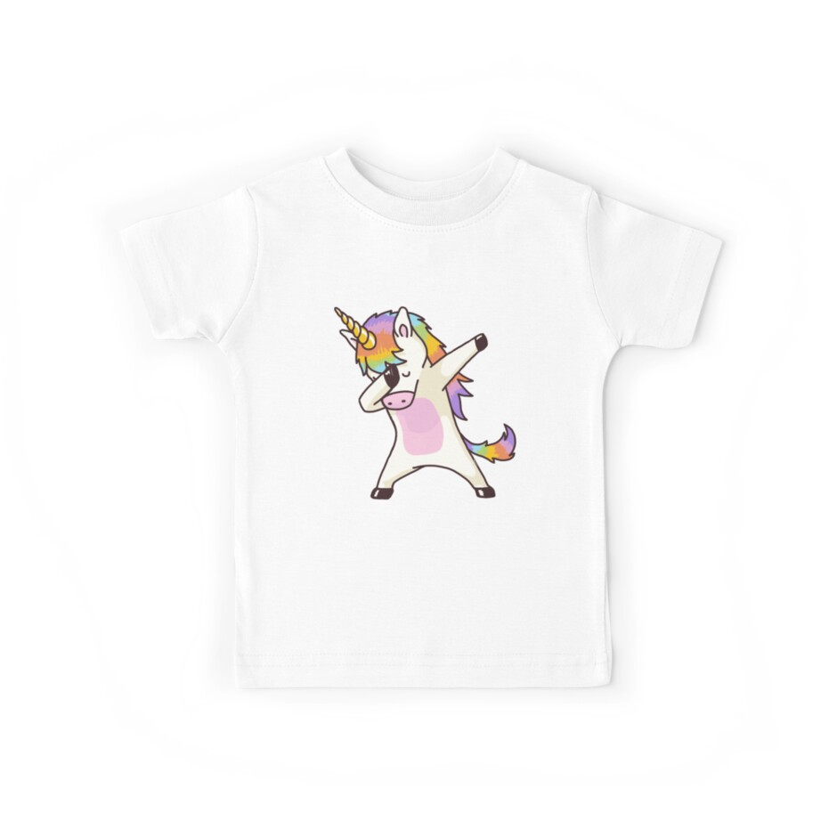 Dabbing Unicorn Shirt Hip Hop Dap Pose by vomaria