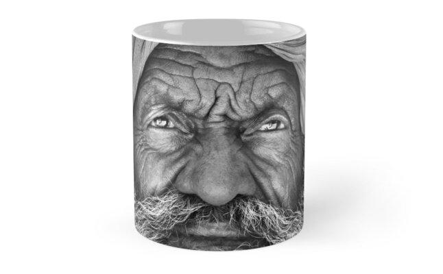 Old Rajasthani Man - Mug by Glen Allison