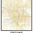 FRESNO CALIFORNIA CITY STREET MAP ART by deificusArt