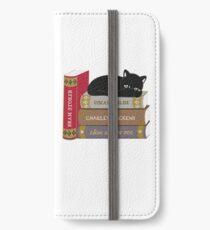 Dark literature cat books lovers iPhone Wallet