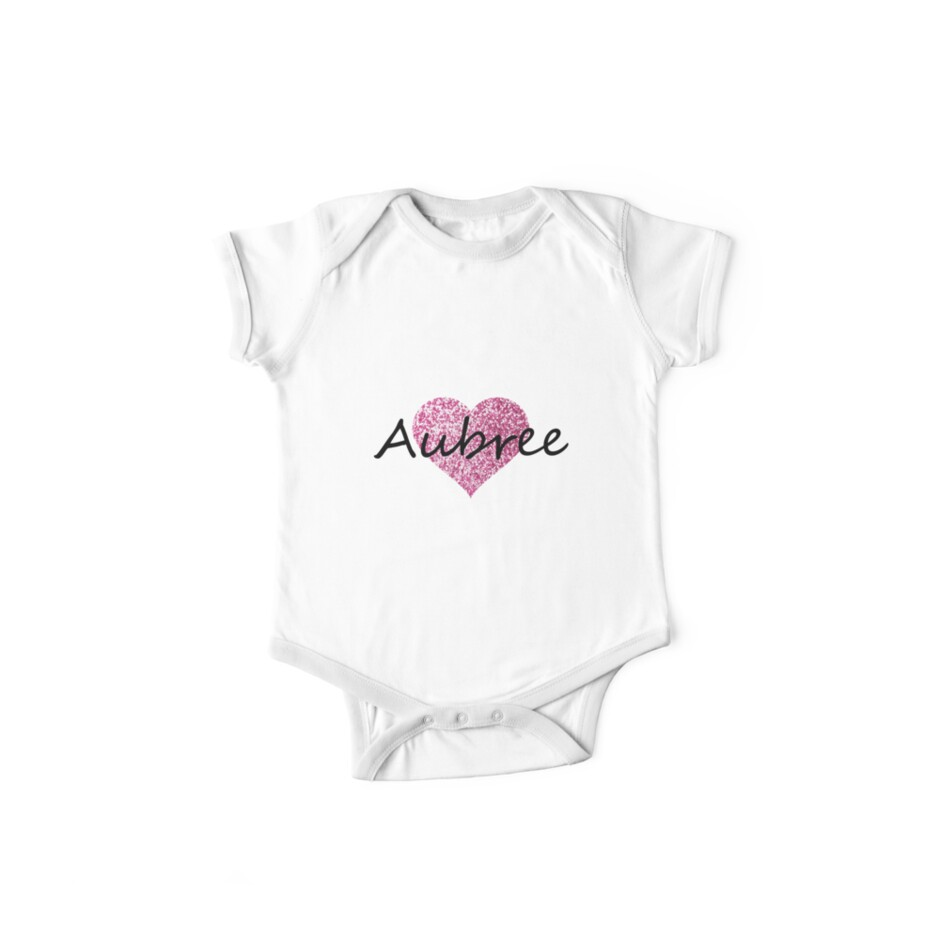 Aubree pink glitter heart by Obercostyle