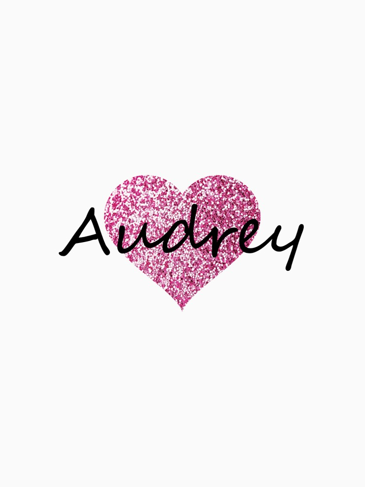 Audrey pink glitter heart by Obercostyle