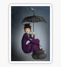Mary Poppins in the Rain Sticker
