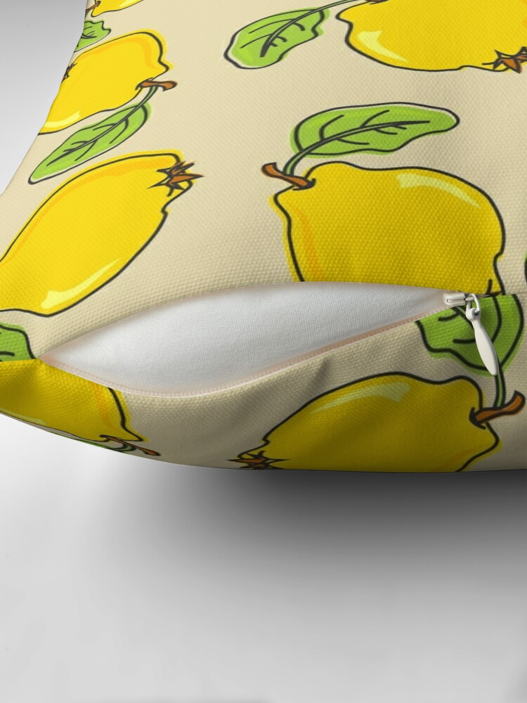Alternate view of Quince Pattern Throw Pillow