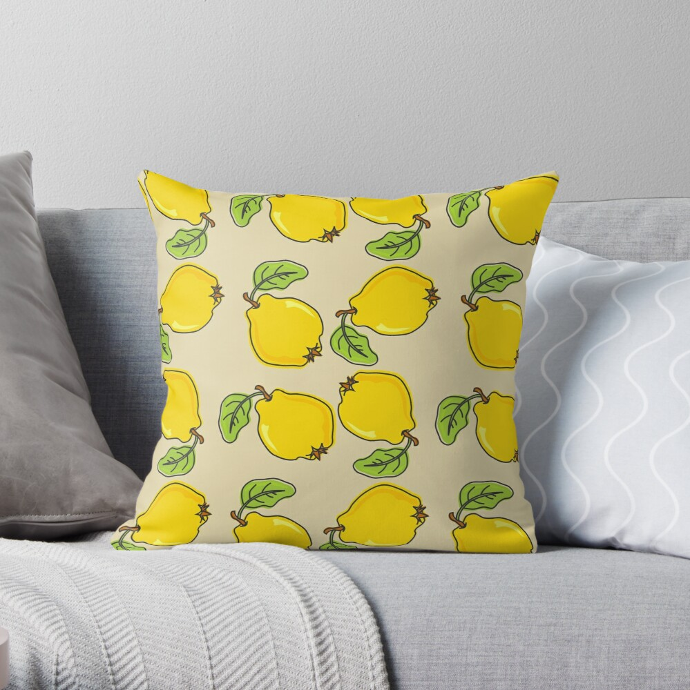 Quince Pattern Throw Pillow
