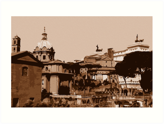 Rome, a view from the Imperial Forums by Andrea Mazzocchetti