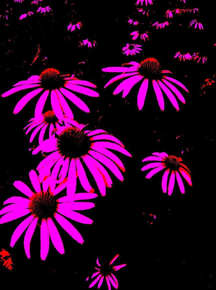 Purple Daisies by brattigrl
