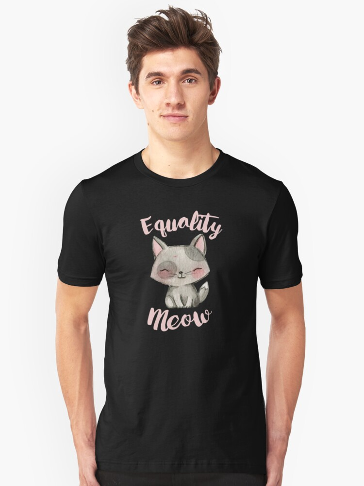 Equality Meow (black) Unisex T-Shirt Front