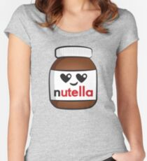 Nutella face 5 Women's Fitted Scoop T-Shirt