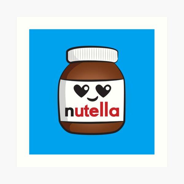 Nutella face 5 Art Print