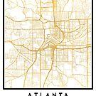 ATLANTA GEORGIA CITY STREET MAP ART by deificusArt