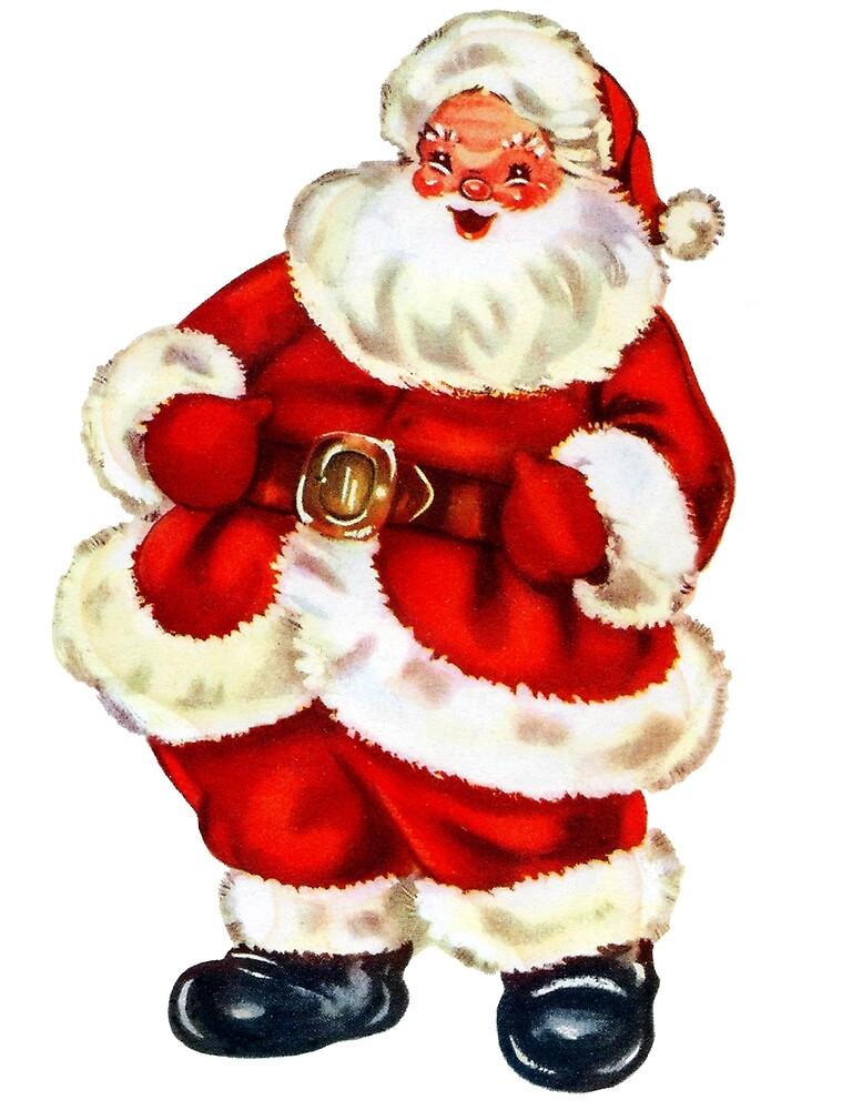 Happy Santa Claus, vintage holiday greeting card by AmorOmniaVincit