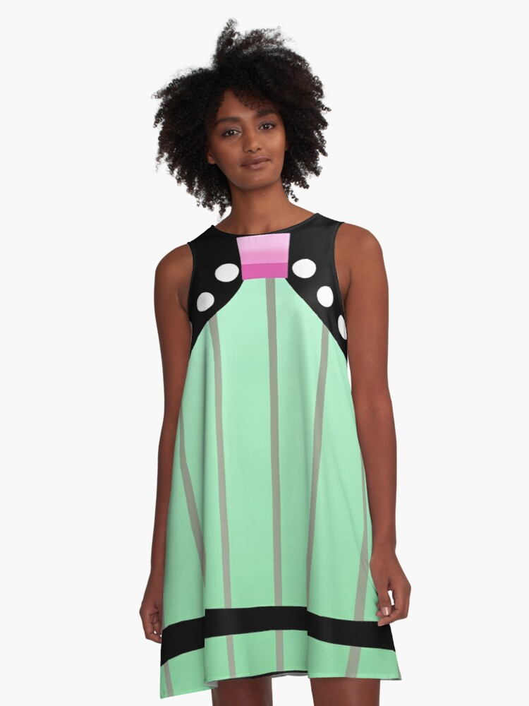 Vocaloid Colorful Drop Miku A-Line Dress Front
