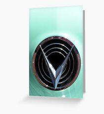 Retro chrome Buick V radiant decoration Greeting Card