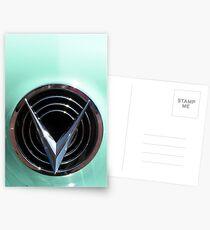 Retro chrome Buick V radiant decoration Postcards