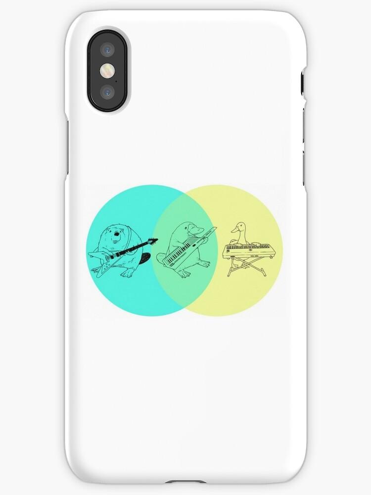 Keytar Platypus Venn Diagram Iphone Cases Covers By Guyblank