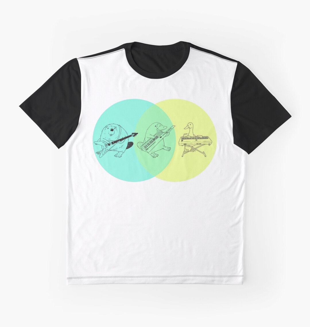 Keytar platypus venn diagram grafik t shirts von guyblank redbubble keytar platypus venn diagram pooptronica