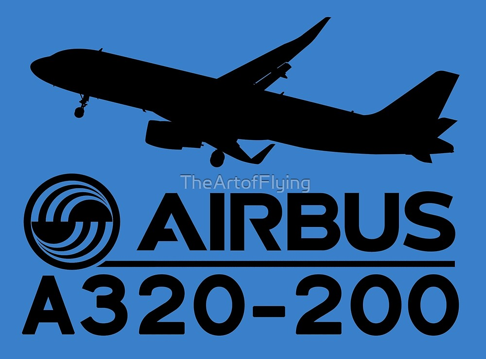 Airbus A320-200 - Silhouette (Black) by TheArtofFlying