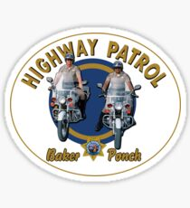 CHIPS TV SERIES - BAKER AND PONCH Sticker
