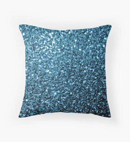 Beautiful Baby blue glitter sparkles Throw Pillow