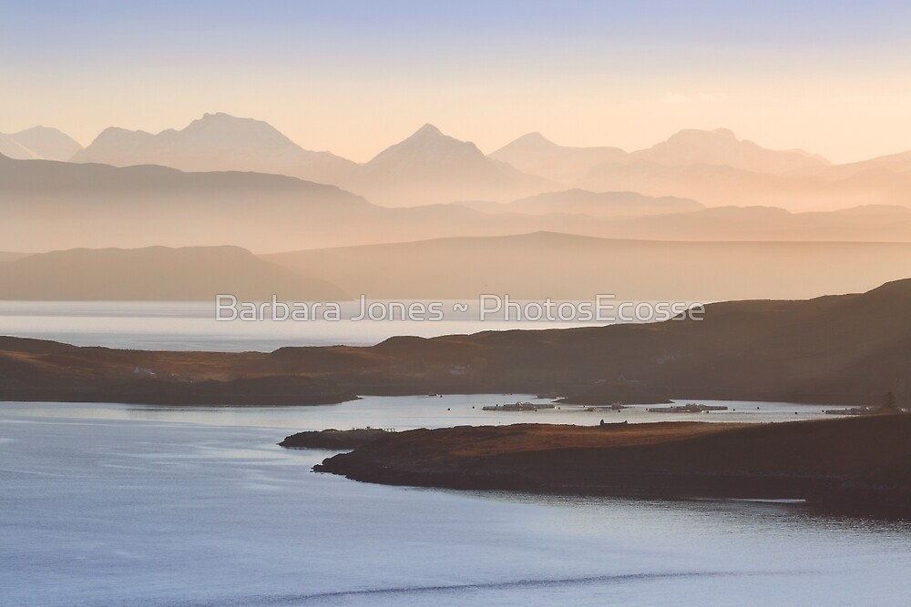 Misty Layers. Fisherfield Hills. From Coigach. Scottish Highlands. by Barbara  Jones ~ PhotosEcosse