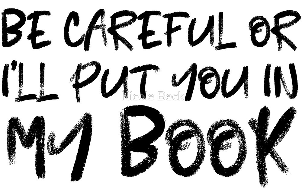 Be Careful Or I'll Put You In My Book by Niki Sue