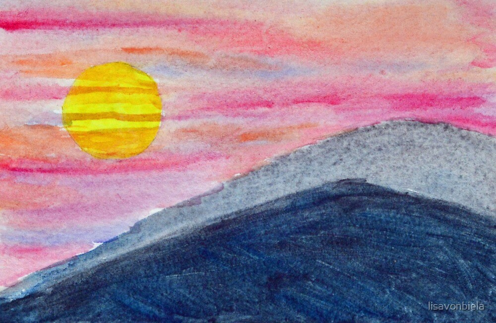 Mountains Against the Evening Sky by lisavonbiela
