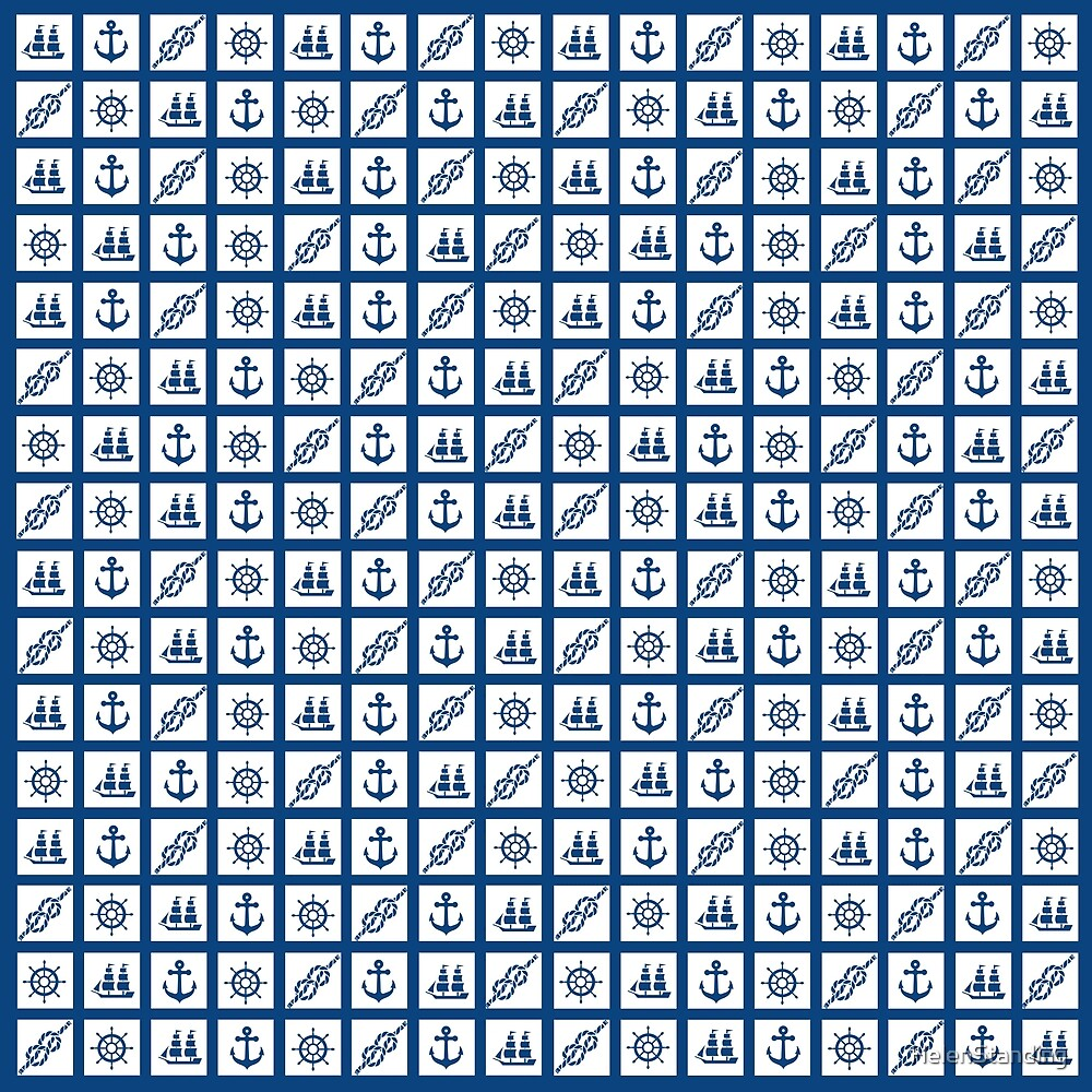 Nautical Tiles - Blue (C3) by HelenStanding